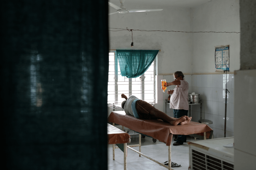 Patient care in a rural Indian health centre