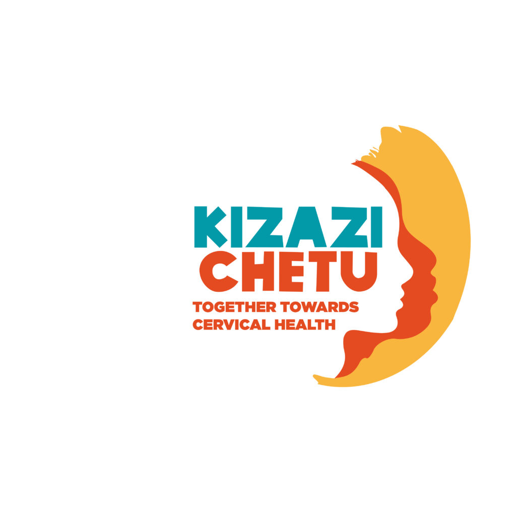 Kizazi Chetu logo, stating: together towards cervical health